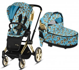 Wózek 2w1 | CYBEX by Jeremy Scott PRIAM 2.0 + gondola LUX | CHERUB BLUE